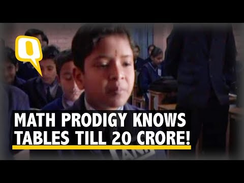 Saharanpur's 12-Year-Old Math Prodigy Knows Tables till 20 Crores! | The Quint