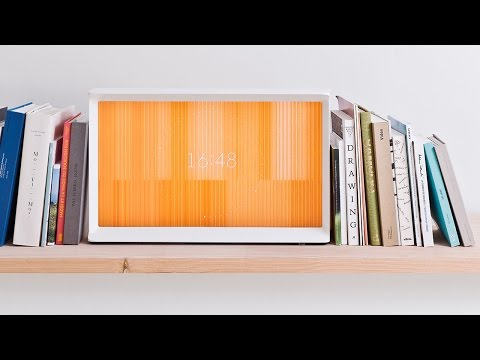 Serif TV by Ronan and Erwan Bouroullec for Samsung has I-shaped frame