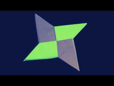 How to make a paper Ninja star easily, origami Ninja, Easy Paper craft