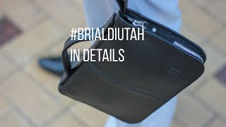 видео Мужской клатч BRIALDI Utah (Юта) relief black