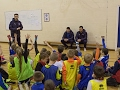 Ched Evans and Tommy Lee visit St Mary's Soccer School
