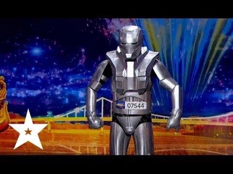 Видео: Робот танцует под Майкла Джексона - Украна ма талант-6 - Кастинг в Днепропетровске