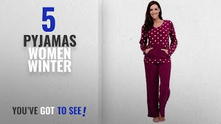 Top 10 Pyjamas Women Winter [2018]: Womens Warm Fleece Winter PJ Pyjama Set Night Wear PJ's Pyjamas