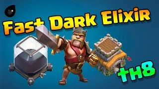 Clash of Clans [th8] FAST AND EASY DARK ELIXIR FARMING STRATEGY