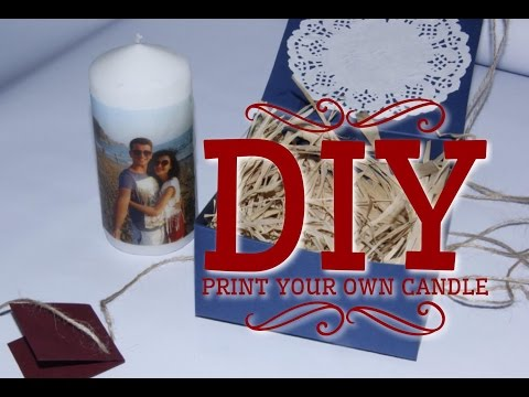 How to  transfer photo onto a candle