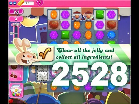 Candy Crush Saga Level 2528 (3 stars, No boosters)