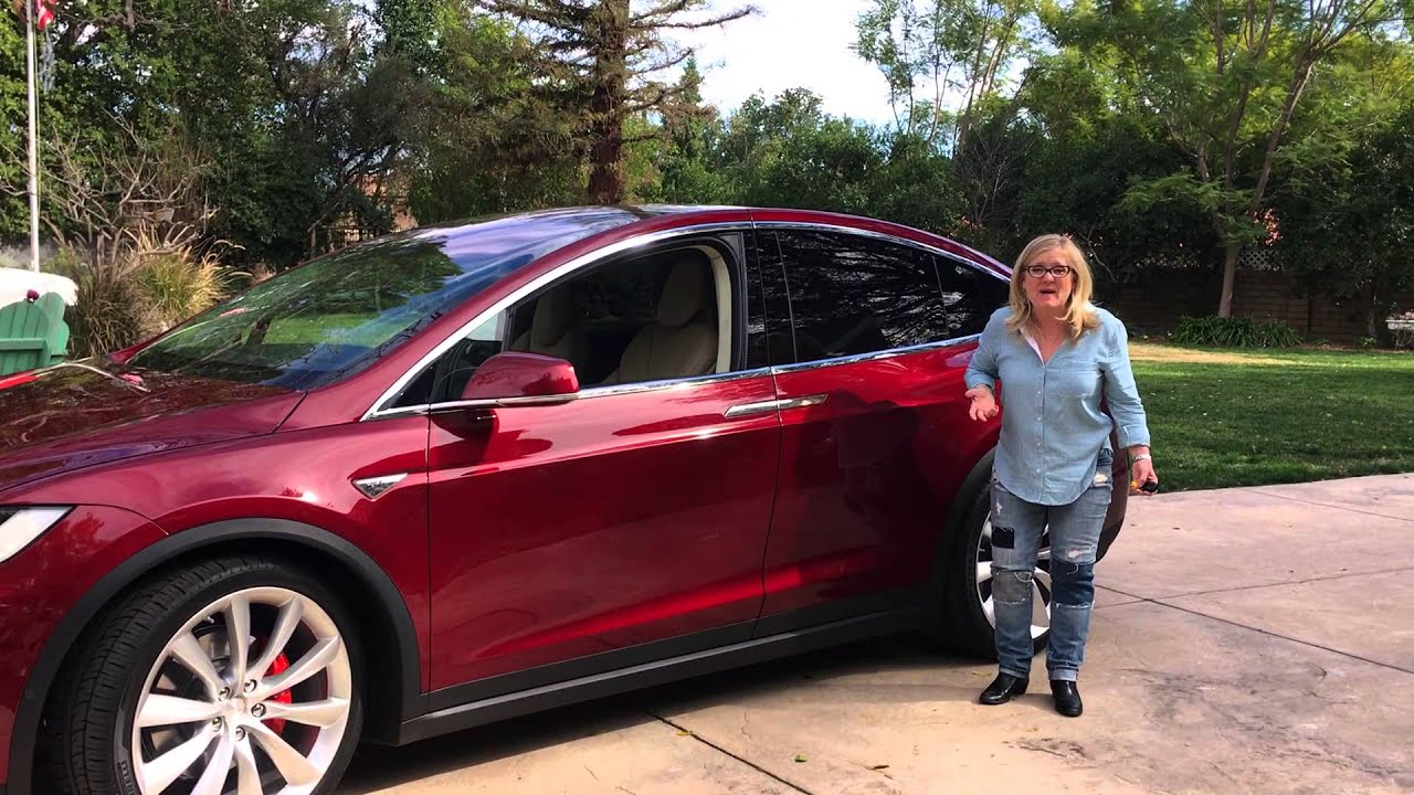 Photo of Nancy Cartwright Tesla Model X - car