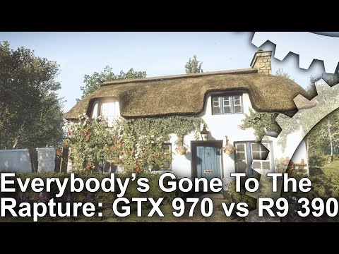 Everybody's Gone To The Rapture GTX 970 vs R9 390 Gameplay Frame-Rate Test