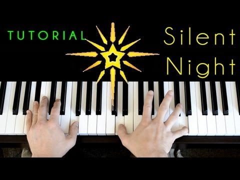 Silent Night Jazzy Version Piano Tutorial Youtube