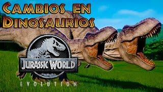 CAMBIOS EN DINOSAURIOS!!/Jurassic Word Evolution