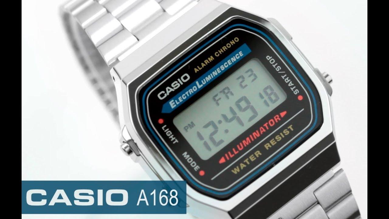 f905cb40b765 Reloj Casio Retro Vintage A168 - www.CompraFacil.mx - YouTube
