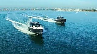 Алюминиевые катера XO Boats на выставке в Финляндии | Тесты катеров на воде