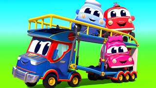Truck videos for kids -  Super CARRIER TRUCK and the ACROBATICS VEHICLES - Super Truck in Car City !