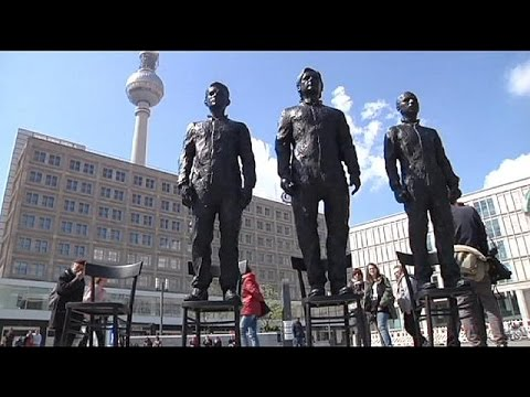 Snowden, Assange and Manning statues unveiled in Berlin's Alexanderplatz