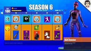 NEW DARK BOMBER SKIN *CONFIRMED* | Fortnite Battle Royale Season 6 Battle Pass SKINS & THEME LEAKED