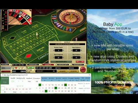 Baby App | #6 Casino Club Deposit 300 EUR | 100% PROFIT DONE, YES | Online Roulette Systems