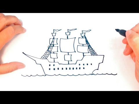 how to draw a simple ship