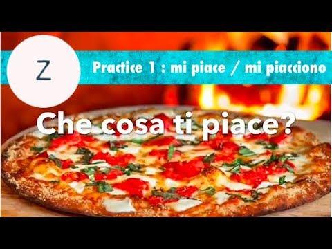Italian Practice 1: Mi piace / Mi piacciono