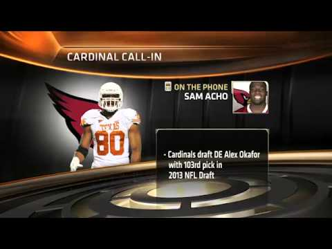 Sam Acho discusses Alex Okafor on LHN [May 8, 2013]