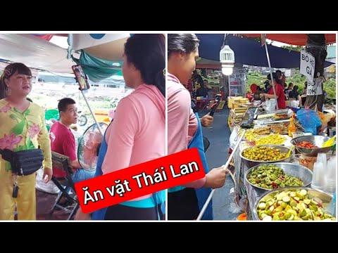 Diva Cát Thy đi review hết khu ẩm thực tại điểm bán bánh tráng trộn Diva