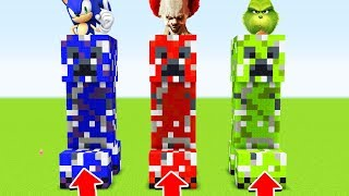 Minecraft: DO NOT CHOOSE THE WRONG CREEPER(SONIC,PENNYWISE GRINCH) (Ps3/Xbox360/PS4/XboxOne/PE/MCPE)