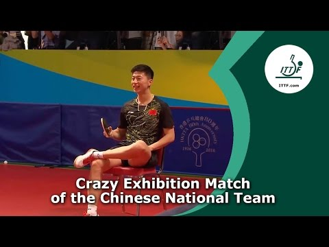 Funny Table Tennis Exhibition Match