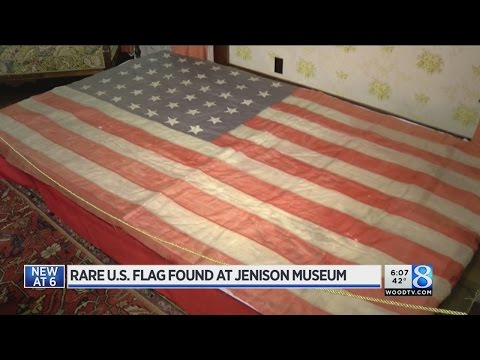 Jenison museum discovers rare 42-star American flag