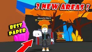 2 New Areas + Eggs Update!! Buying The New Best Baconhair Ball | Paper Ball Simulator!! [Roblox]