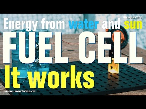 Fuel Cell -  Green energy from water and sun. See how it works.