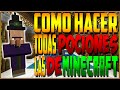 COMO HACER TODAS LAS POCIONES DE MINECRAFT 1.8 | TUTORIAL