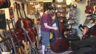 New labella 7710 Black Nylon Tape Wound strings on my Kay upright bass