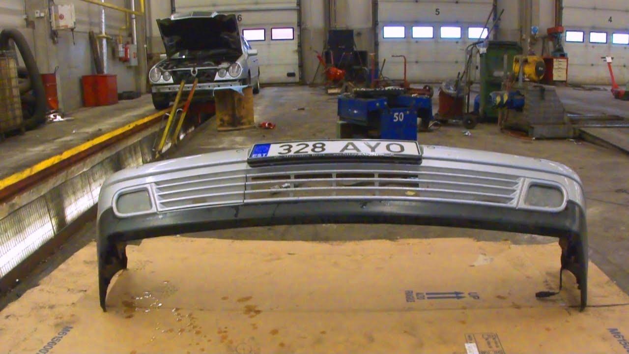 Передний бампер Mercedes-Benz W210.Front bumper - YouTube