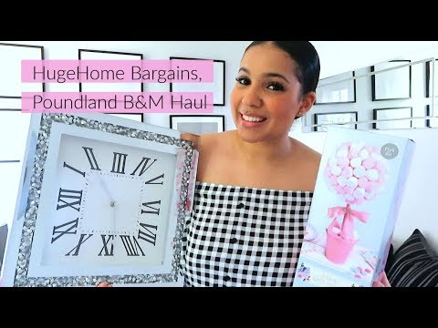 HUGE HOME BARGAINS, POUNDLAND AND B&M HAUL || MAY 2019 ||