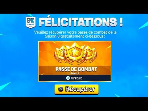 EPIC GAMES OFFRE le PASSE de COMBAT SAISON 8 ! 🤩