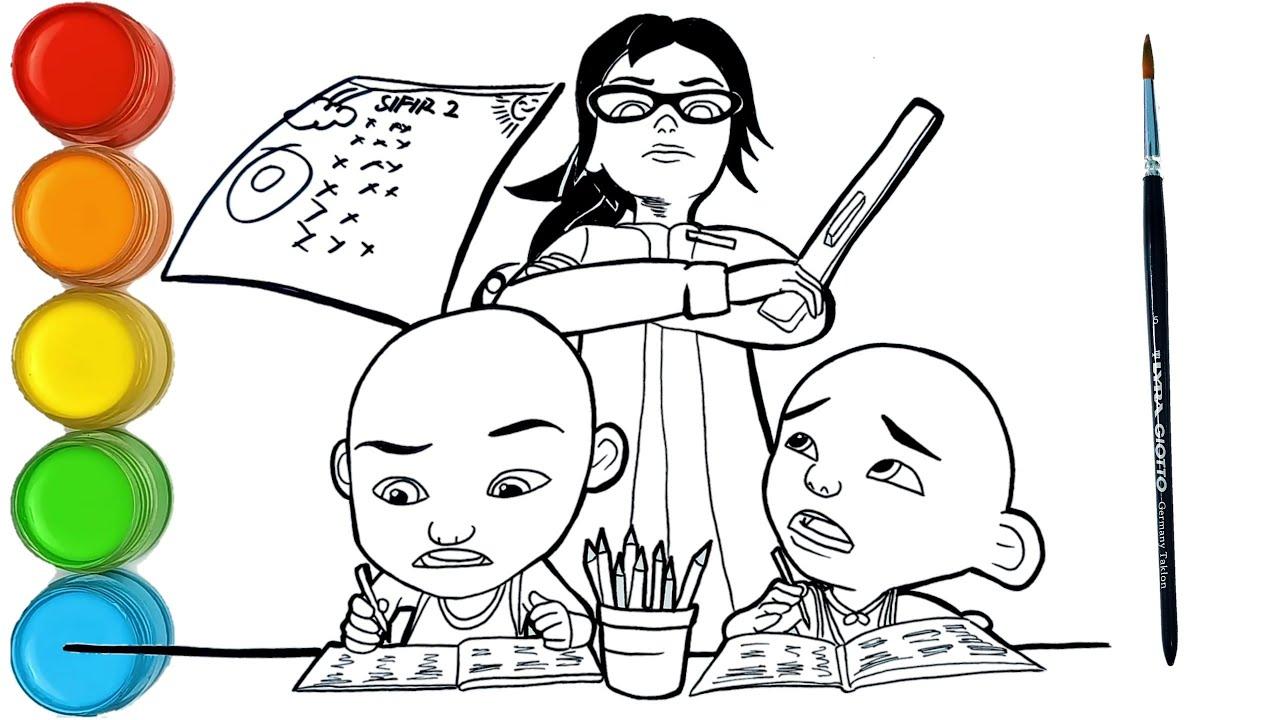 Download Upin & Ipin Bijak Sifir perkalian Episode Terbaru 2020   menggambar dan mewarnai Upin Ipin