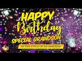 Happy Birthday Special Grandson In the Style of Ed Sheeran   Celebrity   Personalised   Party
