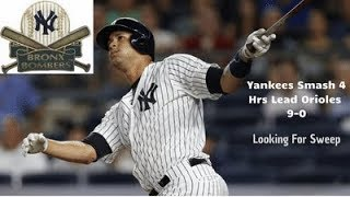 Yankees Lead 9-0 In 7th, Looking For Sweep