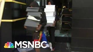 Chaos Erupts As Police Descend On Looters In Santa Monica   MSNBC