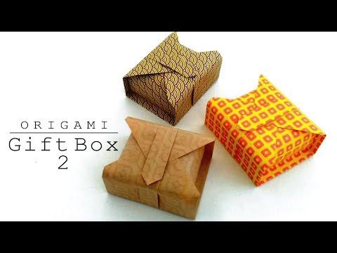 折り紙 簡単 ギフトボックス 2 Origami Easy Gift Box 2
