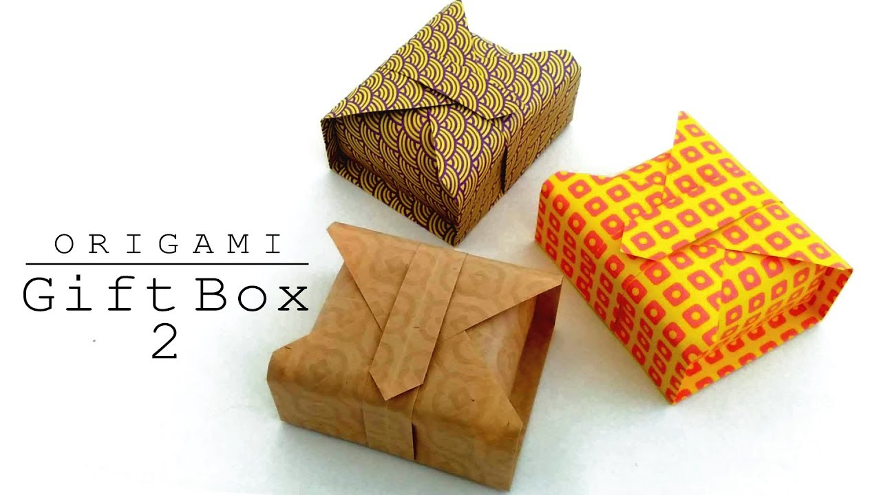 Origami: Ring Box / Gift Box   How to make a Ring Box ...   720x1280