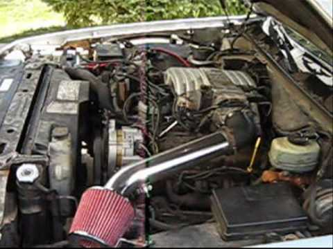 1990 Lincoln Town Car Makeshift Cold Air Intake Youtube