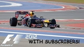 F1 2012 Game : United States Grand Prix with Subscribers!