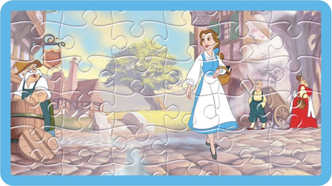 Disney Jigsaw Puzzles Belle And Her Father In The