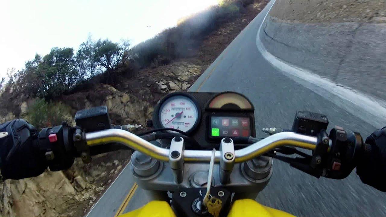 Ducati Monster 750 Mulholland Highway Run Youtube