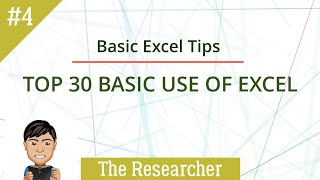 Top 30 Basic Practical Uses of Excel 365 (Part 4 of 4)