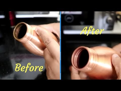 HOW TO CLEAN INSIDE OF COPPER BOTTLE||CLEANING TIPS||RAMA SWEET HOME