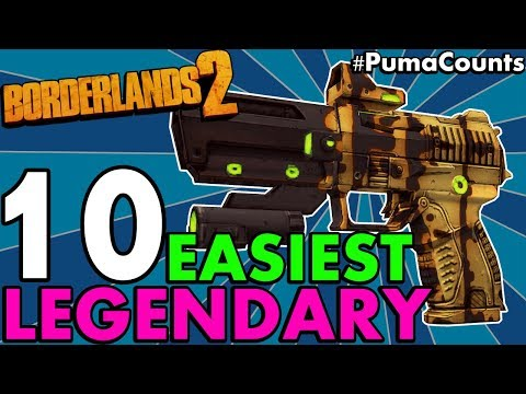 Top 10 Best and Easiest Legendary Guns and Weapons to Farm/Get in Borderlands 2 (No DLC) #PumaCounts