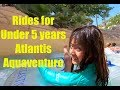 Top Rides for Small Kids under 5 years in Atlantis Aquaventure Waterpark Dubai