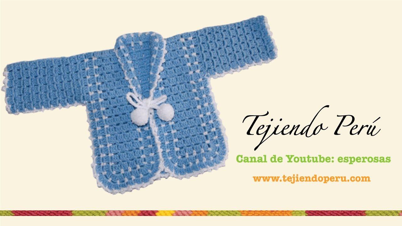 Ropón o chaqueta para bebé en crochet (Parte 2) - Tejiendo Perú ...