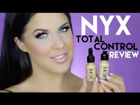 NYX TOTAL CONTROL DROP FOUNDATION | FIRST IMPRESSION, REVIEW + 12 HOUR WEAR TEST!!